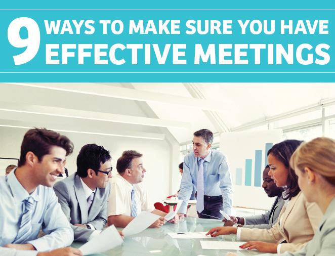 Come organizzare riunioni efficaci