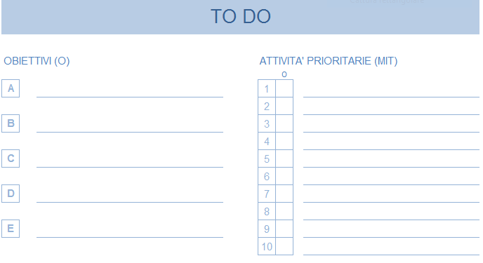 ToDo List Excel 1